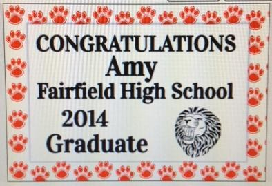 order your senior yard signs by may 2nd fairfield elementary school