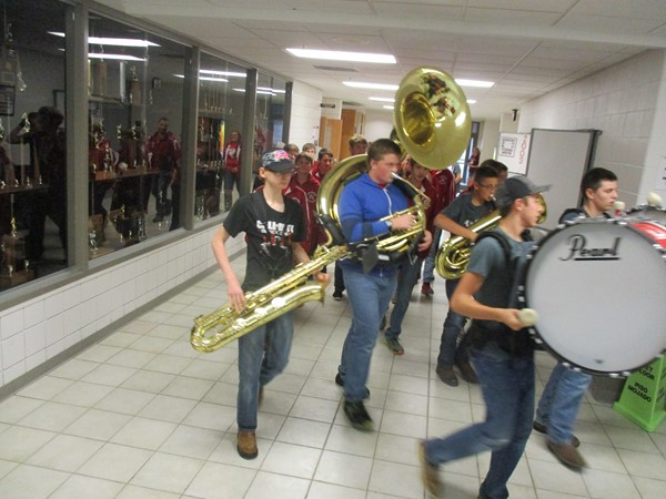 The band leading the team!