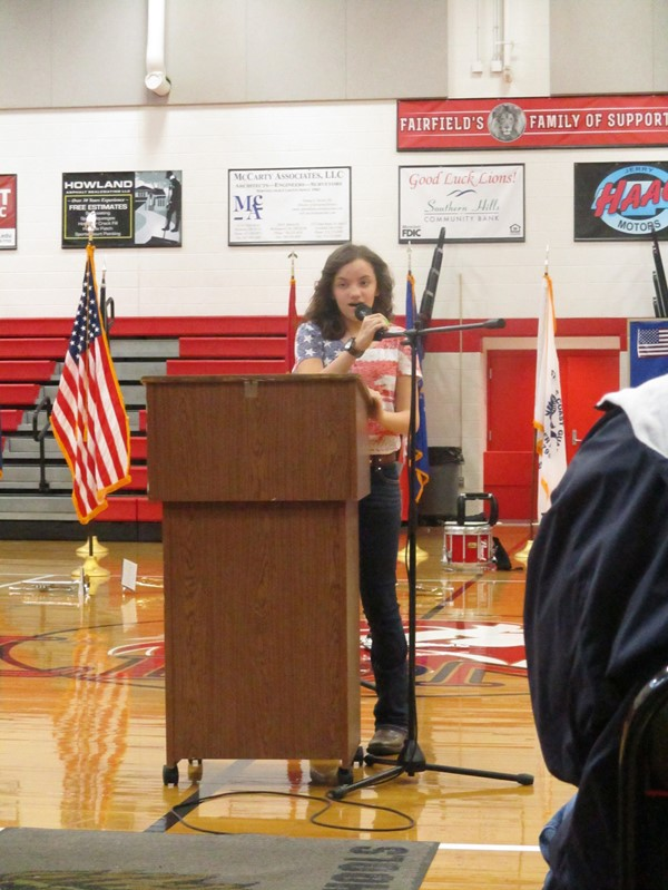 MS Student Laci Muhlenkamp Singing