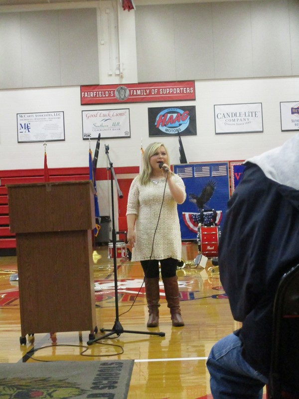 HS Student Katelyne Adams Singing