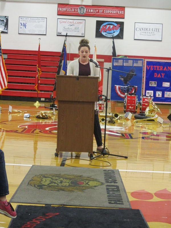HS Student Hannah Willey Speaking