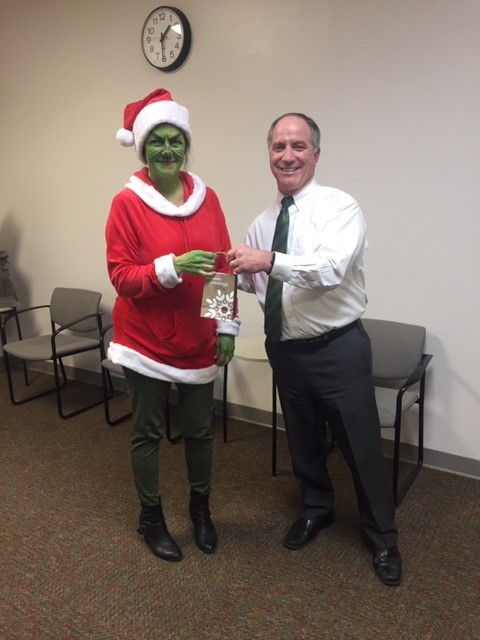 The Grinch won best costume!