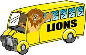 Lion Driving Bus